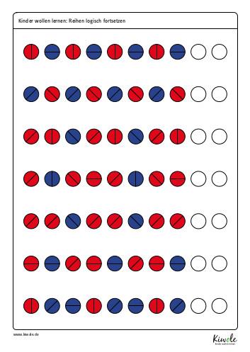 Arbeitsblatt Logikrätsel: Setze die Reihe logisch fort