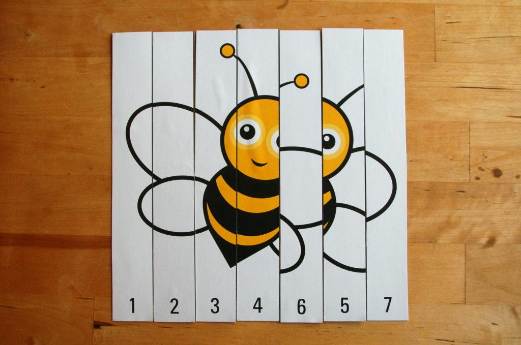 Foto von einem falsch zusammen gesetzten Zahlenpuzzle
