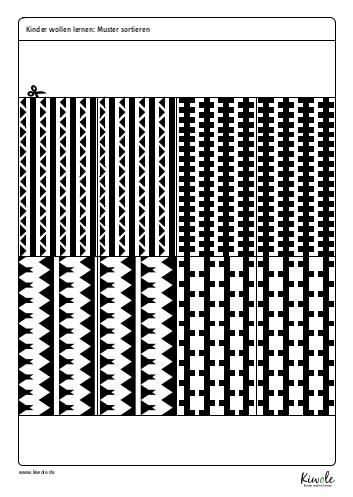 """Arbeitsblatt """"Strukturen erkennen - Muster sortieren"""""""