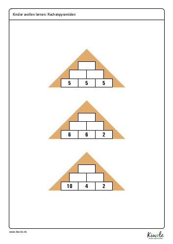 Arbeitsblatt Rechenmauern oder Rechenpyramiden