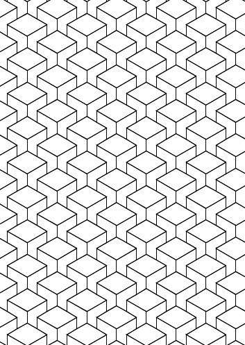"Arbeitsblatt ""3D Muster zum Ausmalen"""