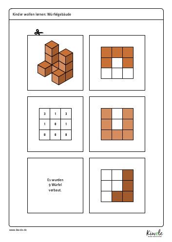 Lernspiel Würfelgebäude