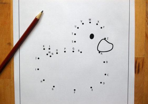 """Foto vom Arbeitsblatt """"Buchstaben verbinden"""""""