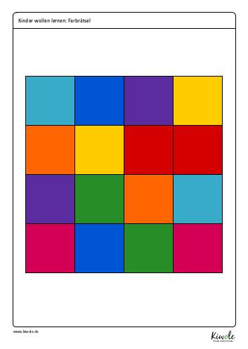 Arbeitsblatt Farbrätsel