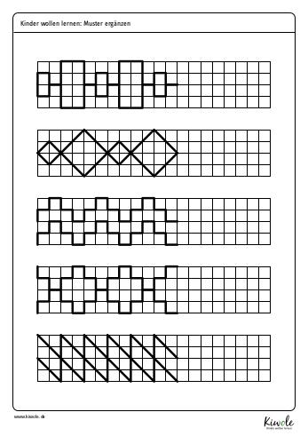 """Arbeitsblatt """"Muster ergänzen"""""""