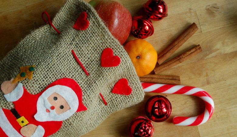 Foto von einem Nikolaussack zu Weihnachten