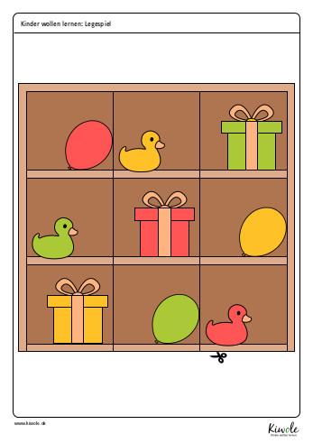 Puzzleteile für ein Legespiel
