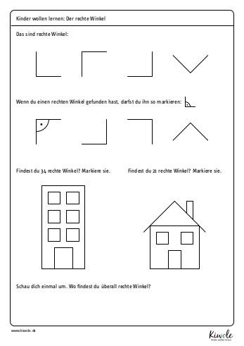 """Arbeitsblatt """"der rechte Winkel"""""""