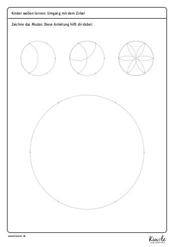 """Arbeitsblatt """"Mandala zeichnen"""""""