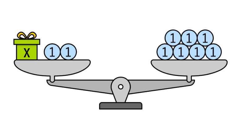 Lineare Gleichungen lösen mit Hilfe einer Waage