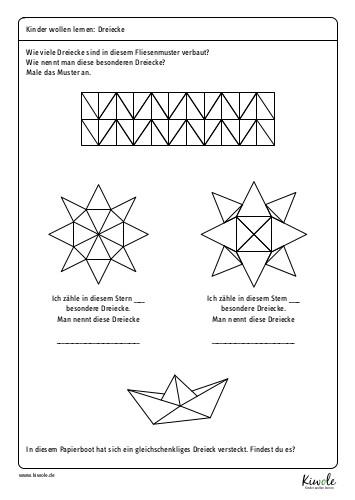 Arbeitsblatt Dreiecksarten